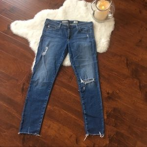 AG Adriano Goldschmeid skinny distressed jeans 31